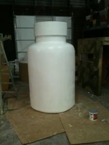 Pill Bottle 7ft Tall Rockwall Foam